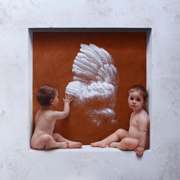 Marina Dieul, La Grande Aile, oil, 52 x 52.