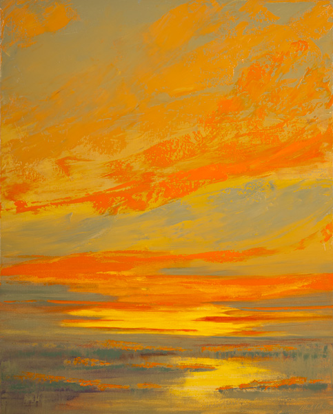 Mark White, Galisteo Dawn, oil, 30 x 24.