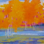 Fall Orange on the Stillwater, oil, 48 x 60.