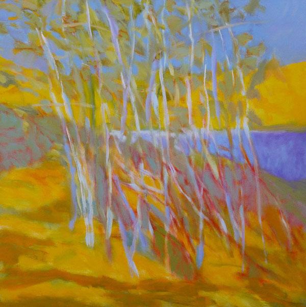 Swan Lake, November, oil, 30 x 30.