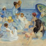 Martha Walter, Bathers by the Sea, oil, 18 x 26. Estimate: $40,000-$60,000.