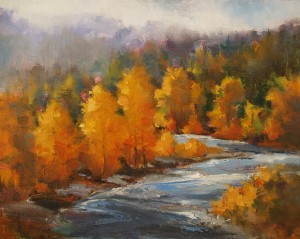 David Marty, Autumn Aglow, oil, 8 x 10.