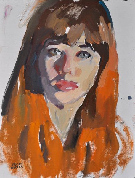 Peggi Kroll-Roberts, Mary, oil, 9 x 12.