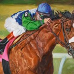 Linda Massey, Barbaro, oil, 24 x 36.