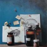 Holly Mathews, Chemistry, oil, 20 x 16.