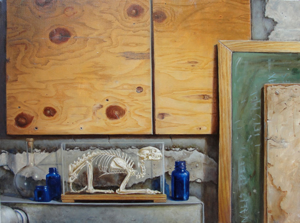 Holly Mathews, Framework, oil, 20 x 24.