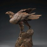 Walter Matia, Golden Rule, bronze, 29 x 29 x 15.