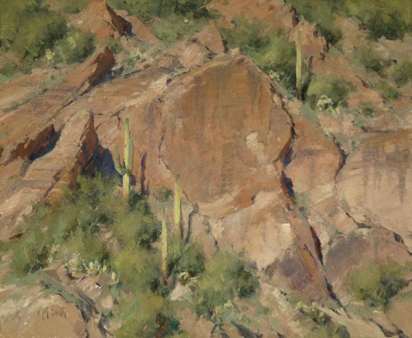 Matt Smith, Apache Cliffs, oil, 18 x 22.