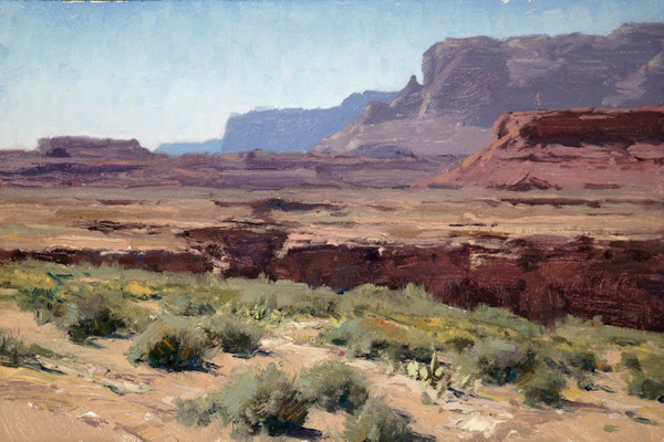 Matt Smith, Marble Canyon, oil, 8 x 12.