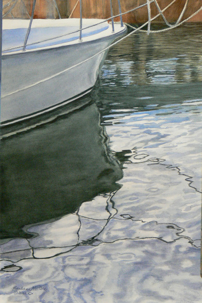 Barbara McGee, Reflections, watercolor, 21 x 15.