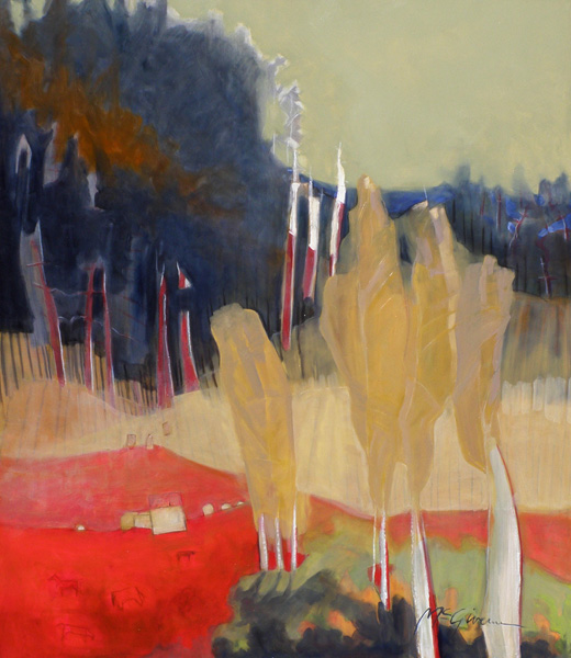 Peggy McGivern, Red Earth II, oil, 46 x 40.