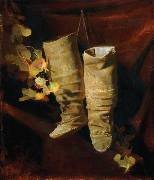 Sherrie McGraw, Dancing Feet, oil, 20 x 17.