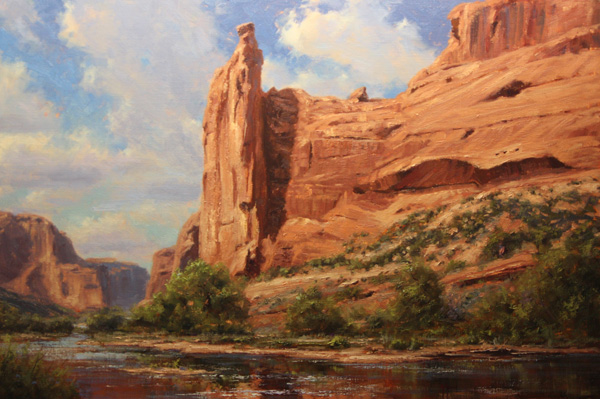 Kenny McKenna, Face Rock, oil, 24 x 36.