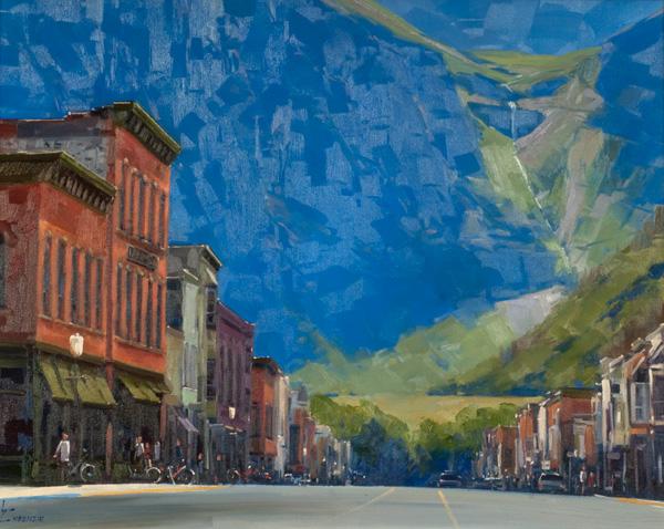 Wayne McKenzie, Telluride Classic, oil, 22 x 8.