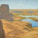 Melanie Thompson, Sweet Desert Water, oil, 24 x 36.