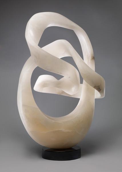 Merlin Cohen, Spirit Cubed, alabaster, 27 x 18 x 12.