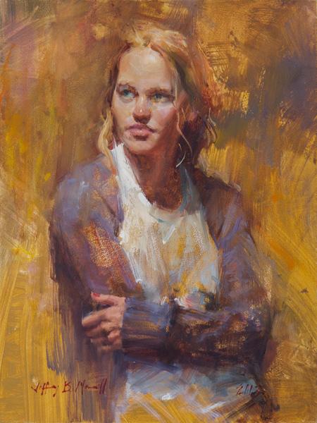 Jeffrey Merrill, Savannah, oil 12 x 9.