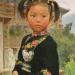 Mian Situ, Girl of Miao, oil, 12 x 9.