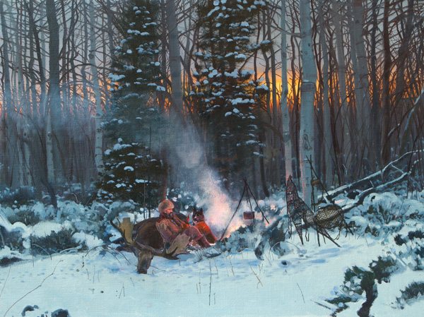 Michael Coleman, Moose Meat, oil, 30 x 40.