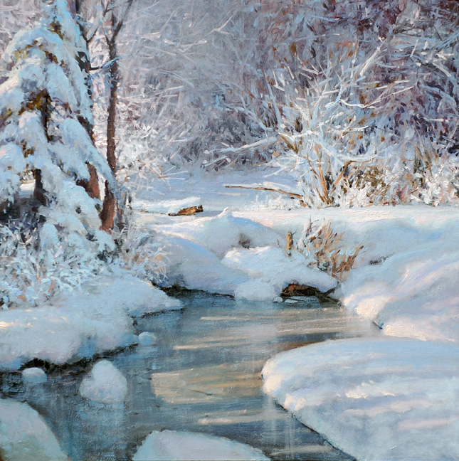 Michael Godfrey, The Beauty of Winter, oil, 13x13