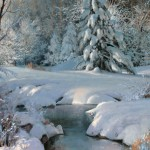 Michael Godfrey, Winter's Pageantry, oil painting at Western Visions.