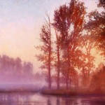 Michael Orwick, Misty Morning Memory, oil, 36 x 48.