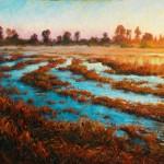 Michael Orwick, Sunrise, oil, 48 x 60.