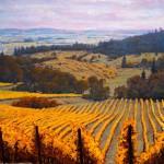 Michael Orwick, Youngberg Vineyard, oil, 72 x 48.