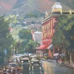 Michele Byrne, Aspen Street Scene, oil, 12 x 9.