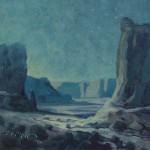 Jerry Markham, Midnight Monuments, oil, 11 x 14.