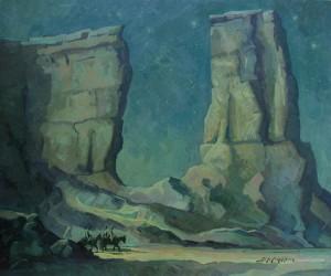Jerry Markham, Midnight Passage, oil, 20 x 24.
