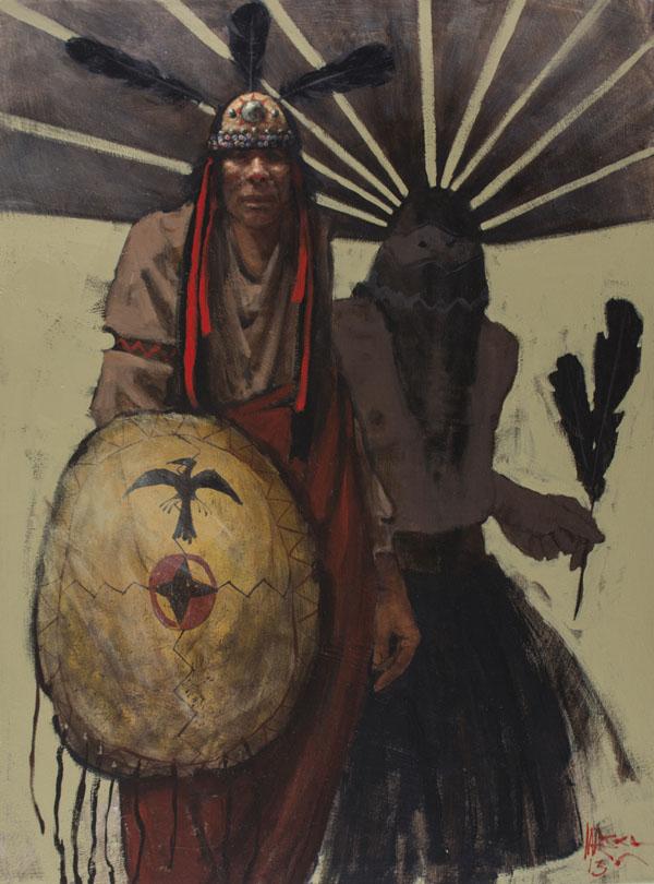 Mike Larsen, Apache Spirit, oil, 40 x 30.