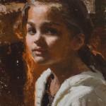 Mike Malm, Liv's Light, oil, 17 x 9.