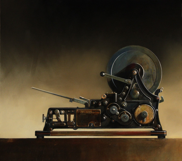 Wendy Chidester, Mimeograph No78, oil, 40 x 45.