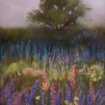 Heather Coen, Misty Meadow, pastel painting
