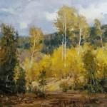 Mitch Baird, Golden Opening, oil, 14 x 18.