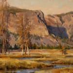 Mitch Baird, Good Morning Yellowstone, oil, 14 x 18.