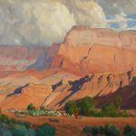 G. Russell Case, Morning at Vermilion Cliffs, oil, 18 x 30.