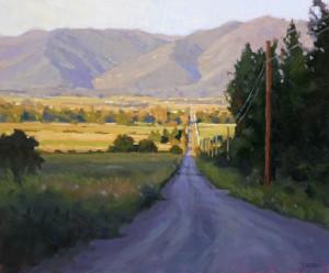 Timothy Horn, Montana Blues, oil, 20 x 24.