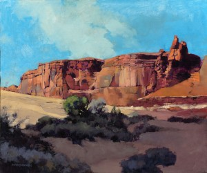 Dennis Rhoades, Monument Rock Formations, oil, 20 x 24.