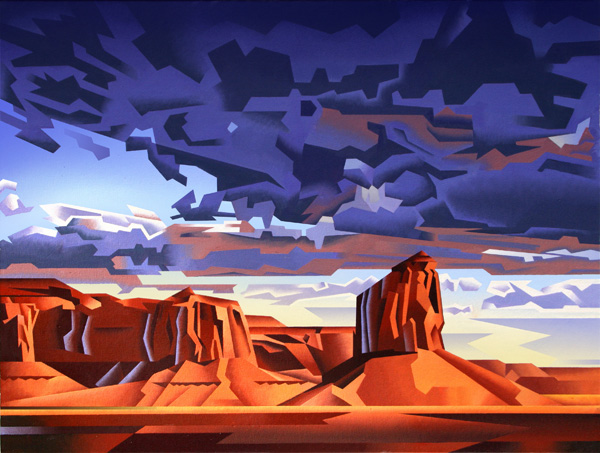 David Jonason, Monument Valley Storm, oil, 30 x 40.