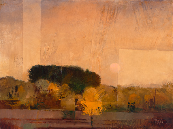 Bart Forbes, Moonrise, oil, 25 x 31.