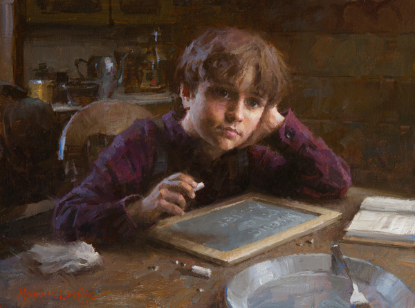 Morgan Weistling, The Daydreamer, oil, 12 x 16.