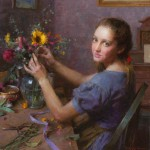 Morgan Weistling, The Florist, oil, 25 x 24.