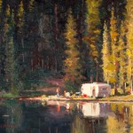 Doug Morgan, Alta Lake Idyll, oil, 12 x 16.