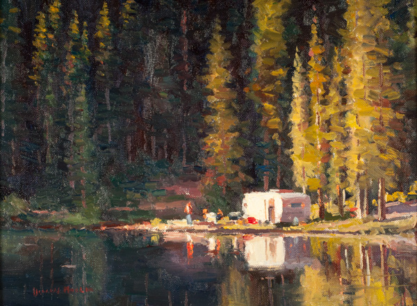 Doug Morgan, Alta Lake Idyll, oil, 12 x 16.