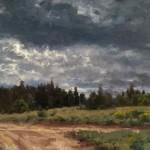 Jason Sacran, Morning Clouds, oil, 16 x 24.