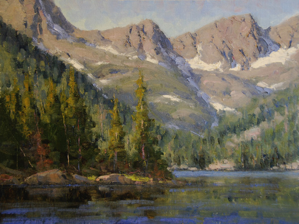 Dan Young, Morning Light on Black Lake, oil, 12 x 16.