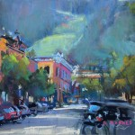 Greg Barnes, Morning in Aspen, pastel, 9 x 12.