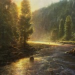 Brent Cotton, Morning in the Wilderness, oil painting
